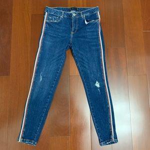 Zara Mid Rise Dark Wash Jeans